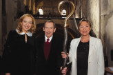 Mr and Mrs Havel with Julia Kristeva