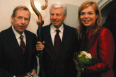 Mr and Mrs Havel with Petr Vopěnka