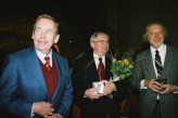 President Václav Havel with Jiří Suchý and Michal Ajvaz
