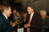 President Václav Havel with Tom Stoppard